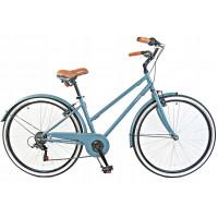 """Hellobikes NOBILITI 28"""" dámsky mestský bicykel 2019 - Modrý"""