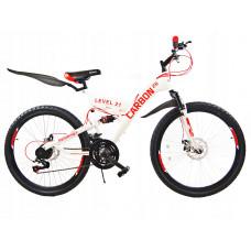 """Carbon LEVEL horský bicykel 26"""" 2019 - bielo-červený Preview"""