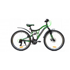 """Horský bicykel pánsky Adventure 26"""" čierno-zelený Preview"""