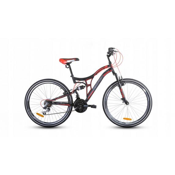 """Horský bicykel pánsky Adventure 26"""" čierno-červený"""