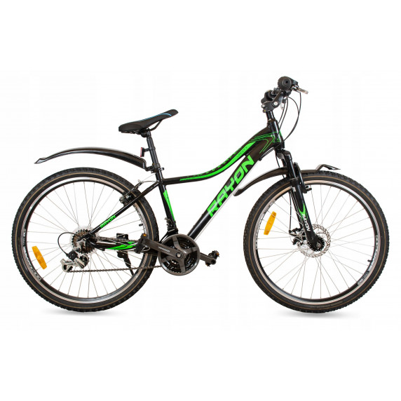 """Horský bicykel dámsky RAYON Vanity 26"""" čierno-zelený"""
