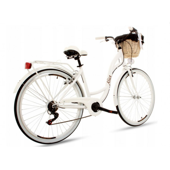 """Dámsky bicykel Goetze ALICE 28"""" - biely"""