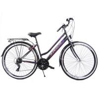"""KANDS LADY dámsky mestský bicykel Galileo 28"""" čierno-fialový"""