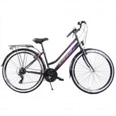 """KANDS LADY dámsky mestský bicykel Galileo 28"""" čierno-fialový Preview"""
