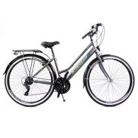 """Kands Galileo Lady dámsky mestský bicykel 28"""" sivo-zelený"""