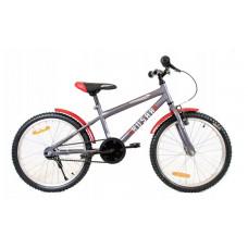 """HUSAR Detský bicykel 20"""" - šedo-červený Preview"""