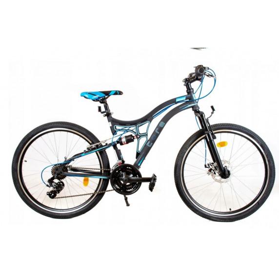 """Detský horský bicykel Tought 24"""" - čierno-modrý"""