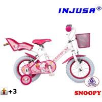 """Detský bicykel Injusa SNOOPY 2015 12"""" - biely"""