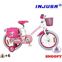 """Detský bicykel Injusa SNOOPY 2016 16"""" - biely"""