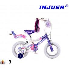 """Detský bicykel Injusa Butterfly 2015 12"""" -  fialový  Preview"""