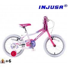 "Injusa Butterfly detský bicykel 16"" - pink 2017 Preview"