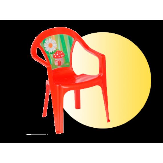 Inlea4Fun umelohmotná stolička pre deti s motívom