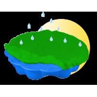 Inlea4Fun pieskovisko Margaréta s prikrývkou - modré