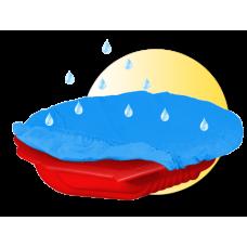 Inlea4Fun pieskovisko Mušla s prikrývkou - červené Preview