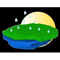 Inlea4Fun pieskovisko Mušla s prikrývkou - modré