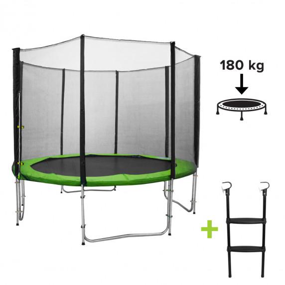 Inlea4Fun Ami Jump trampolína 305 cm (10 FT) Light Green kryt pružín + rebrík
