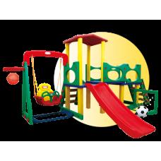 Inlea4Fun 3XL Mega detské ihrisko so šmykľavkou a hojdačkou Preview