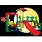 Inlea4Fun 3XL Mega detské ihrisko so šmykľavkou a hojdačkou