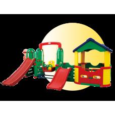 Inlea4Fun 4XL Mega detské ihrisko s hojdačkou a šmykľavkami Preview