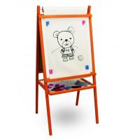 Inlea4Fun detská tabuľa 4v1 TEDDY MOP - Oranžová