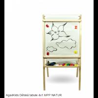 Inlea4Fun detská tabuľa 4v1 MPP Natur