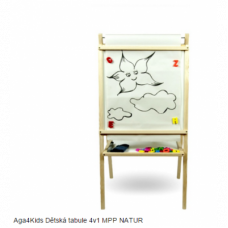 Inlea4Fun detská tabuľa 4v1 MPP Natur Preview