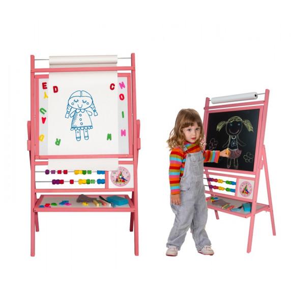 Inlea4Fun detská obojstranná tabuľa BIG PINK