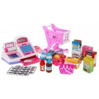 Inlea4Fun Cash Shop - nákupný košík s príslušenstvom Pink