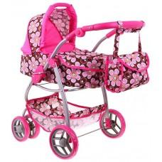 Kočík pre bábiky s taštičkou ERIKA- kvetinkový Preview