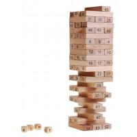 Inlea4Fun Wood Toys Jenga drevená spoločenská hra