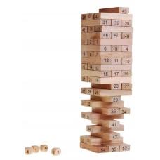 Inlea4Fun Wood Toys Jenga drevená spoločenská hra Preview