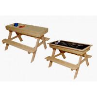 ZOT detská drevená lavica 2v1 do exteriéru