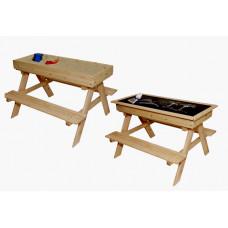ZOT detská drevená lavica 2v1 do exteriéru Preview