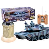 RC bojový tank Battle Tank s interaktívnym bunkerom