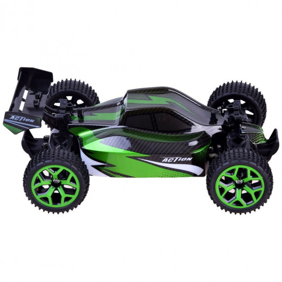 Inlea4Fun RC auto na diaľkové ovládanie BUGGY 4x4 - zelené