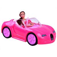 Inlea4Fun BEAUTY FASHION CAR Ružové autíčko kabriolet s bábikou