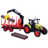 Inlea4Fun FARMLAND Detský traktor s návesom na prepravu dreva