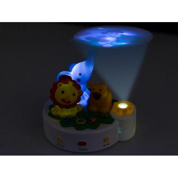 Detská nočná lampa s projektorom Inlea4Fun ANIMAL PROJEKTOR