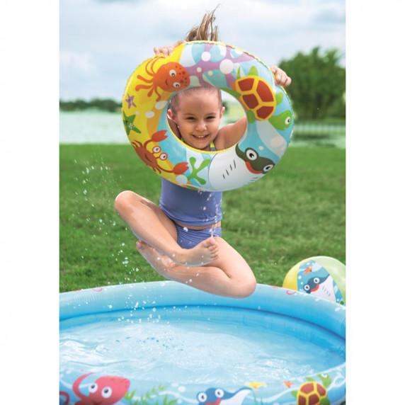 BESTWAY detský okrúhly bazén NEMO + nafukovačka + lopty 51124