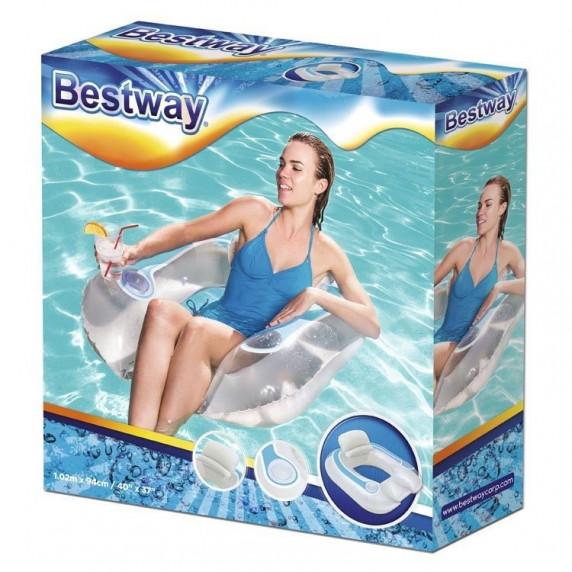 Bestway 43097 Nafukovacie plávacie kreslo 102 x 94 cm - biele