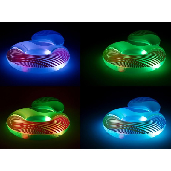 Nafukovacie kreslo LED BESTWAY 118x117cm