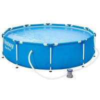 BESTWAY 56679 Steel Pro rodinný bazén 8 v 1, 305 x 76 cm + kartušová filtrácia