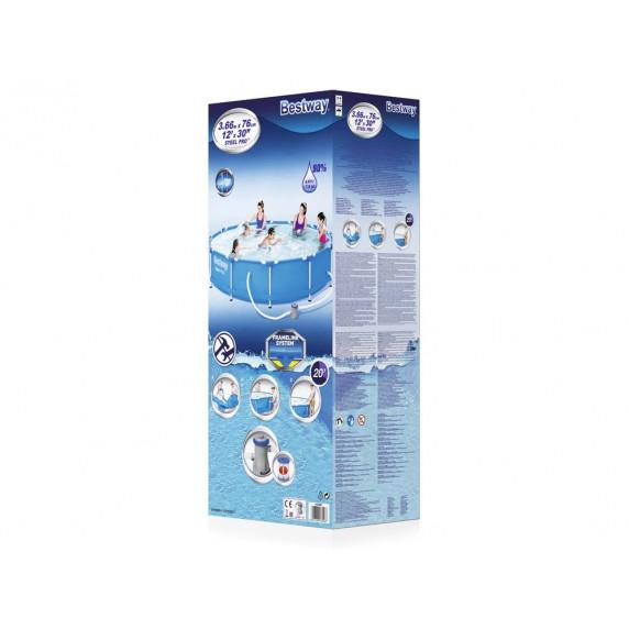 Rodinný bazén 366 x 76 cm BESTWAY 56681 Steel Pro + kartušová filtrácia