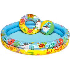 BESTWAY detský okrúhly bazén NEMO + nafukovačka + lopty 51124 Preview