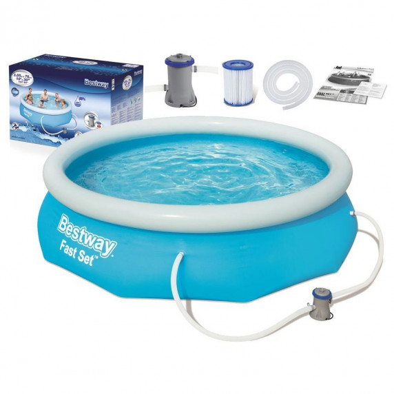 BESTWAY Fast Set samonosný rodinný bazén s kartušovou filtráciou 305 x 76 cm 57270