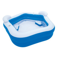 BESTWAY veľký detský bazén Family Fun so sedadlami 213 x 206 x 69 cm 54153