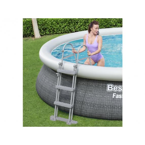 Mäkkostenný bazén BESTWAY 57372 Fast Set 457x107 cm s vodným obehovým papierovým filtrom
