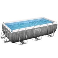 Ratanový bazén s kovovým rámom s cirkuláciou vody s pieskovým filtrom Bestway Power Steel 404 x 201 x 100 cm