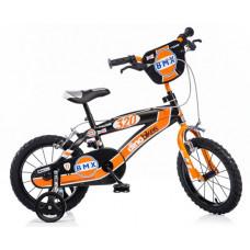 """Detský bicykel DINO BMX 14"""" - oranžovo-čierny 2019 Preview"""