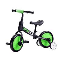 Inlea4Fun Detské cykloodrážadlo 3 v 1 Stcratck - zelené